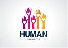 Human Charity Logo Template De...