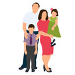 isometric people, family