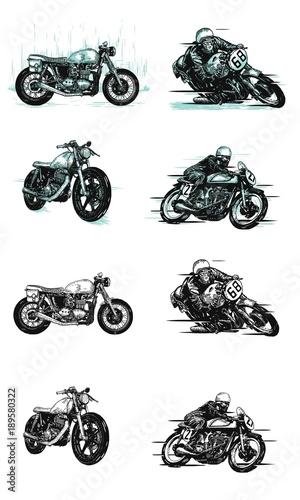 Obraz na plátně vintage motorcycle