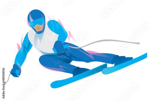 Fotografía  Slalom Skiing Symbol