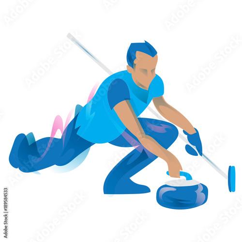 Leinwand Poster Curling symbol