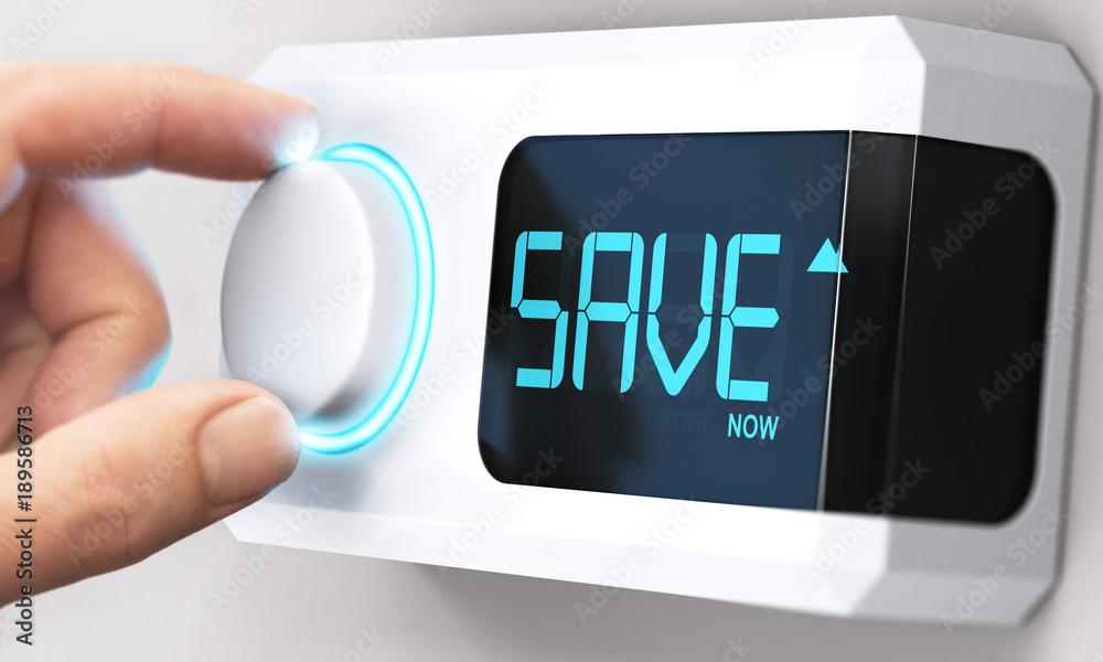 Obraz Saving Money; Decrease Energy Consumption fototapeta, plakat