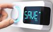 Leinwandbild Motiv Saving Money; Decrease Energy Consumption
