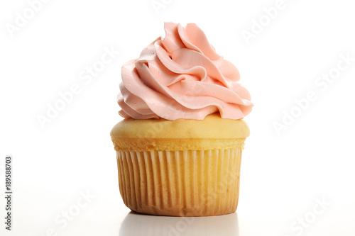 Cupcake isolated on white background Canvas Print