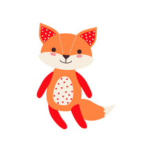 Cute Soft Fox Pup Plush Toy, S...