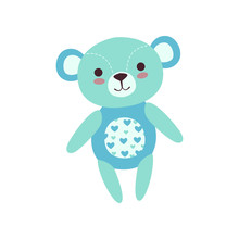 Cute Light Blue Teddy Bear Sof...