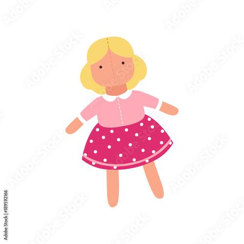 Fotografia Cute soft doll toy, stuffed sewing toy cartoon animal vector Illustration