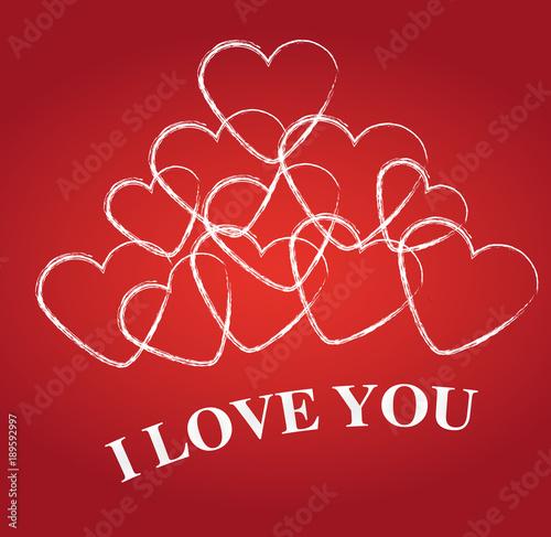 Fotografie, Obraz  i love you
