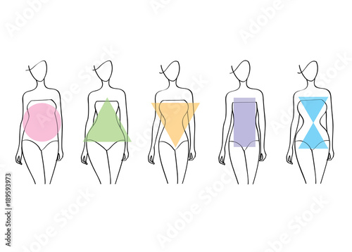 Stampa su Tela Woman body shapes.