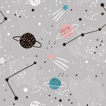 Seamless Pattern With Stars, C...