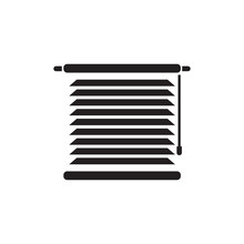 Window Blinds Vector Icon