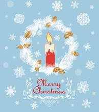 Retro Christmas Greeting Card ...