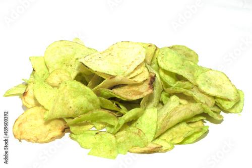 Fotografie, Obraz  wasabi chips patatine giapponesi verdi