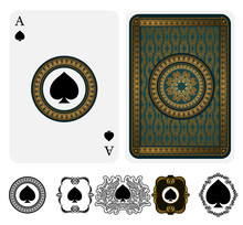 Ace Of Spades Vector Two Sides...