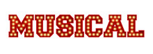 Musical Word Made From Red Vin...