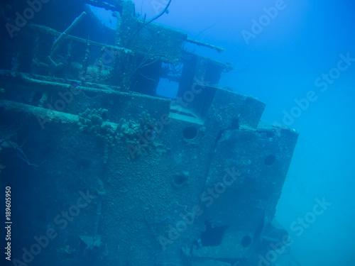 Spoed Foto op Canvas Schipbreuk ship wreck Hilma Hooker Bonaire island caribbean sea underwater