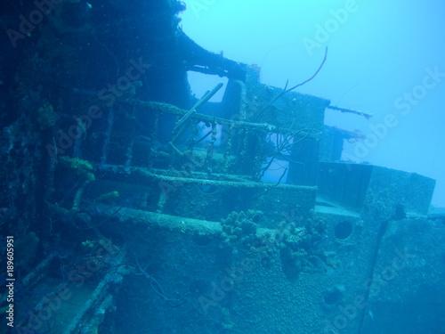 Foto op Plexiglas Schipbreuk ship wreck Hilma Hooker Bonaire island caribbean sea underwater