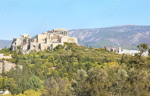 Staande foto Athene the ancient Parthenon and Acropolis landscape in Athens city Greece