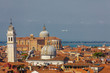 Skyline of Venice with Plane in Backgound
