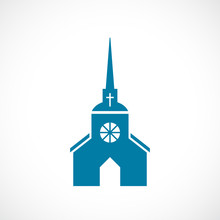 Church With Steeple Vector Icon