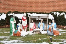 Snowy Nativity Scene