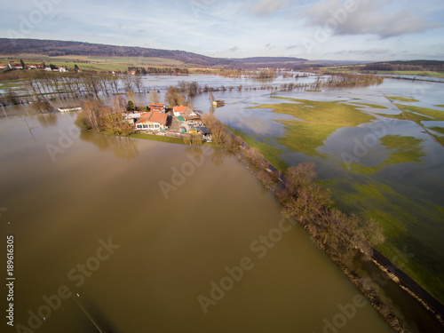 Photo Stands Kiev Donauhochwasser bei Riedlingen am 24. Januar 2018