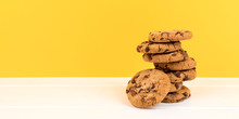 Cookies With Yellow Background...