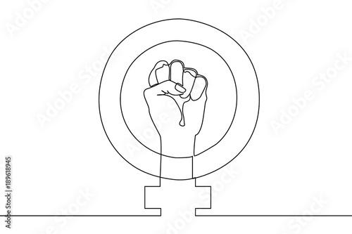 Photo Feminism symbol. Poster concept.