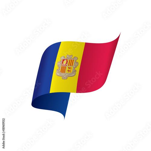 Andora flag, vector illustration Canvas Print