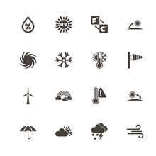 Weather Icons. Perfect Black P...