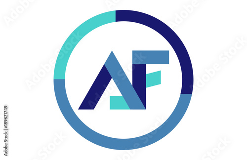 Af Global Circle Ribbon Letter Logo Buy This Stock Vector And