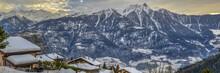 Valais Alps In Winter, Switzerland