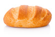 Leinwandbild Motiv One loaf of bread isolated on white background
