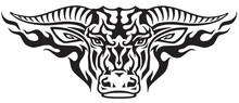 Taurus Bull Head In The Flames...