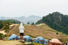 Doi Samer-Dao On December 25,2017 People Travel In Nan  Thailand