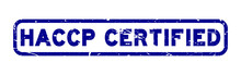 Grunge Blue HACCP Certified Rubber Seal Stamp On White Background