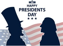 Happy Presidents Day In USA Ba...