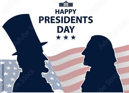 Fotografia  Happy Presidents Day in USA Background