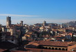Cityscape of Citta Alta, Bergamo, Italy.