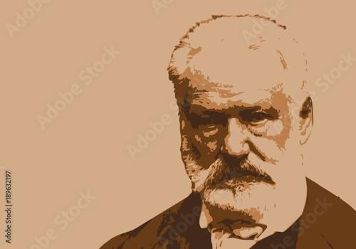 Tablou Canvas Victor Hugo - écrivain - portrait - personnage historique - littérature - panthé