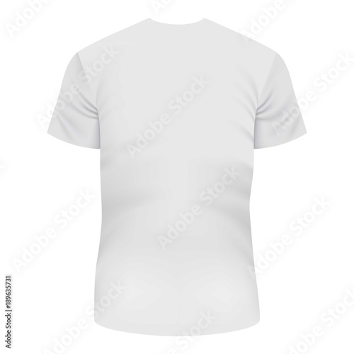 back of white tshirt mockup realistic style buy this stock vector