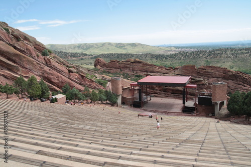 Leinwand Poster The stage of Red rocks amphitheatre, Denver, Colorado.