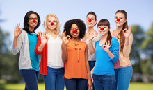 Group Of Women Showing Ok Sign...