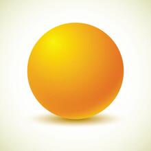 Yellow Ball. Vector Illustrati...