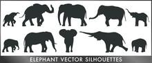 Elephant Vector Silhouettes