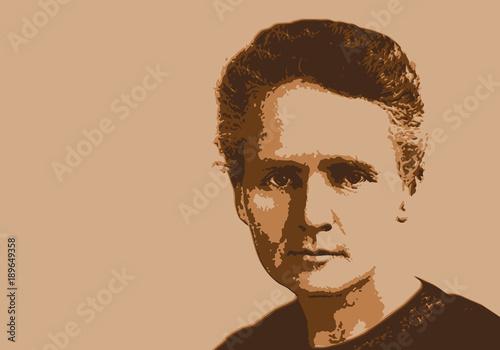 Fotografia  Marie Curie - scientifique - portrait - science - physique - chimie - personnage