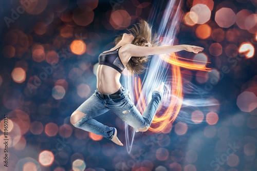 Fotografia  Tänzerin im Sprung