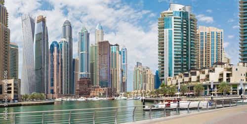 Printed kitchen splashbacks Purple Dubai - The skyscrapers of Marina and the promenade.