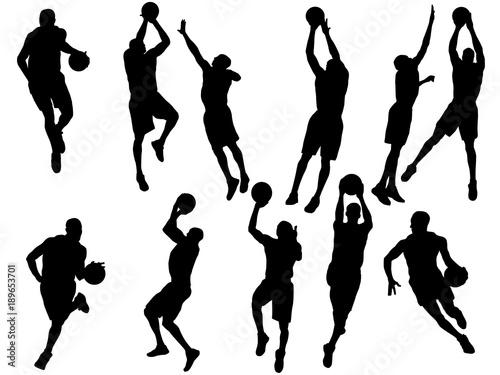 Obraz Basketball player silhouette - fototapety do salonu