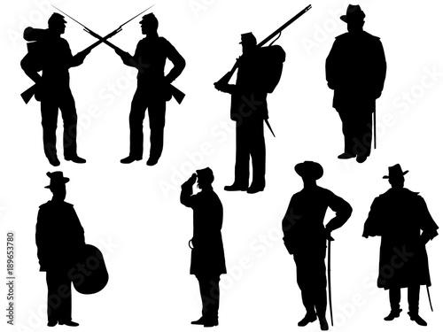 Fototapeta American Civil war silhouette